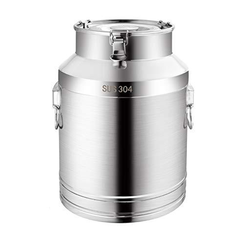 the teapot company 304 in Acciaio Inox Latte può, Vino Secchio Tote Brocca con Coperchio Sigillato Heavy Duty (Taglia : 58L)