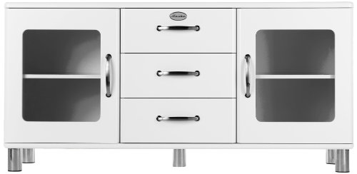 Tenzo 5175-005 Malibu - Designer Sideboard 73 x 150 x 41 cm, MDF lackiert, weiß