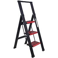 VADCOM 3 Step Ladder Stool Lightweight Folding Step Stool Aluminum Portable Ladder Step Stools