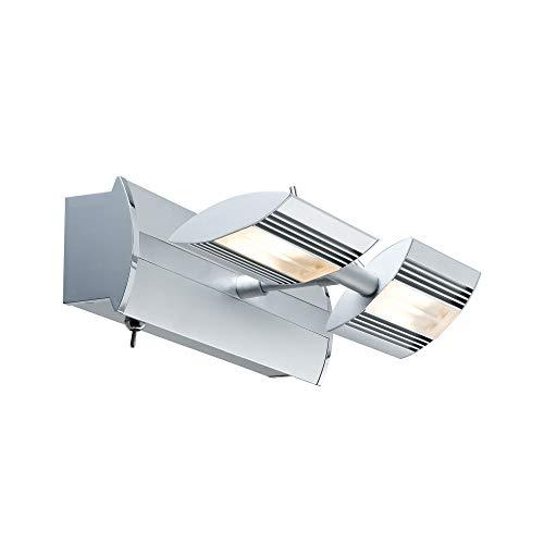 Paulmann 66191 Spotlights Linear LED Balken 2x6W Chrom matt 230/12V Niedervolt Metall 661.91 Deckenleuchte Lampe LED Deckenlampe Deckenstrahler
