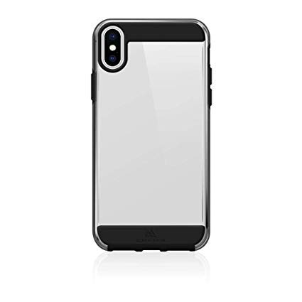 Black Rock - Air Robust Hülle Hülle für Apple iPhone XS/X | transparent, starker Schutz, Cover, TPU, Aufprallschutz (Schwarz)