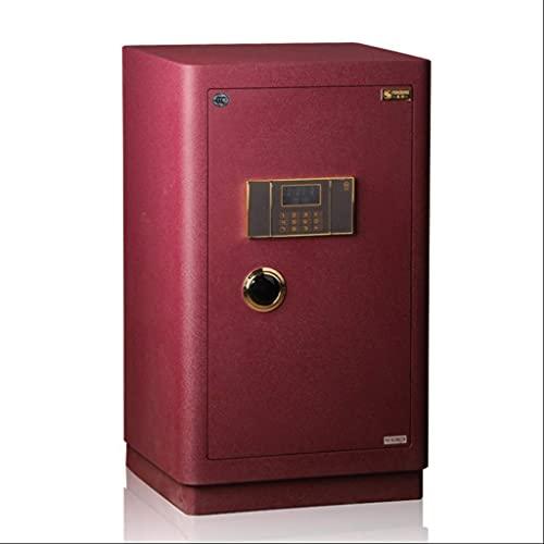 Kassaskåp, elektroniskt värdeskåp, 80 cm högkassaskåp 3C-certifierad eliteserie, stort hemmakontor, rött kassaskåp