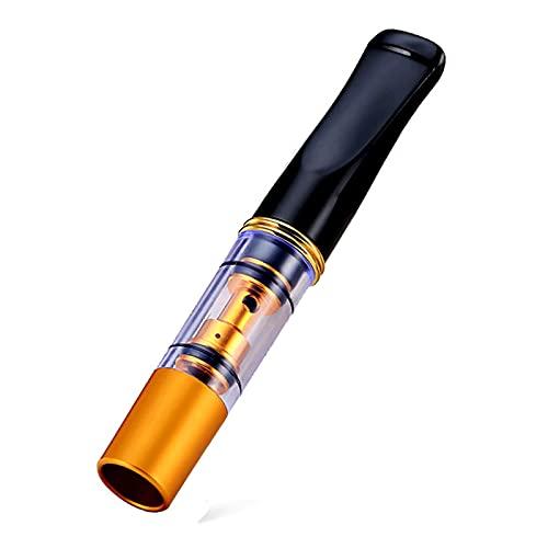 Porta Cigarrillos Corto De 2.6', Porta Cigarrillos con Filtro Portátil Recto Porta Cigarrillos Lavable Regalo para Fumar para Cigarrillos Enrollados A Mano, Tipo Cíclico,Oro
