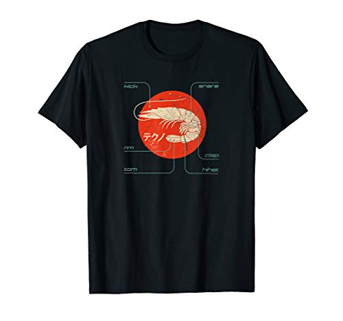 KICK SNARE Producer DAW Japanese Techno Vintage Studio T-Shirt