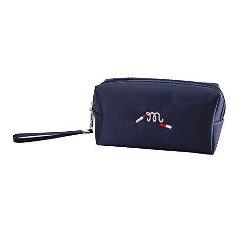 FRTU Trousse de Toilette Portable grande capacité carré sac cosmétique sac de lavage imperméable sac de rangement de voyage multifonction bleu foncé