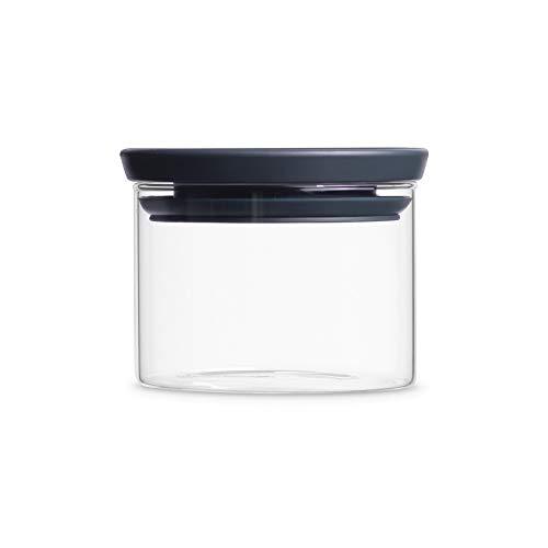 Brabantia 298301 - Tarro de Cristal, 0.3 L, Tapa Gris Oscuro