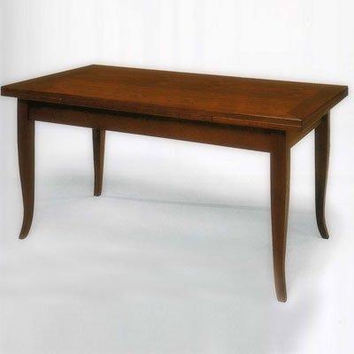 Tisch, Esstisch Kirschholz 140x85 + 2 Verlängerung - Italienischer Produktion