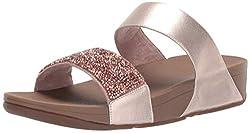 Rose Gold Sparklie Crystal Slide Sandal