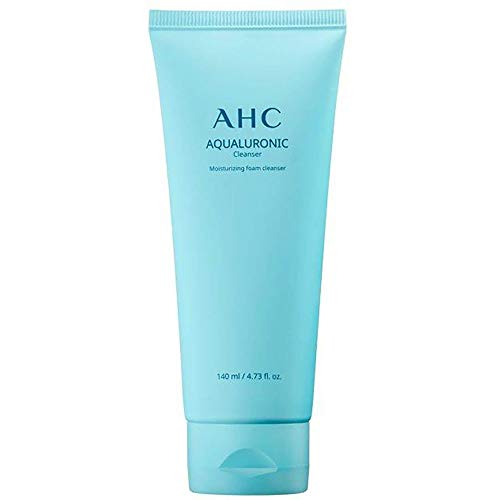 AHC Hydrating Aqualuronic Facial Cleanser for Dehydrated Skin Korean Skincare 140 ml