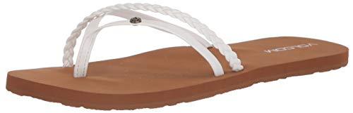 Volcom Women's Thrills Sandal, White, 9