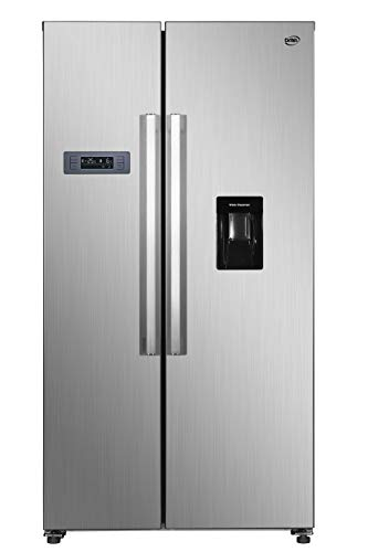 Daya, frigorifero side by side, DFA-69DNH3XF0, classe F, total inox, total no frost, drink dispenser, display LCD