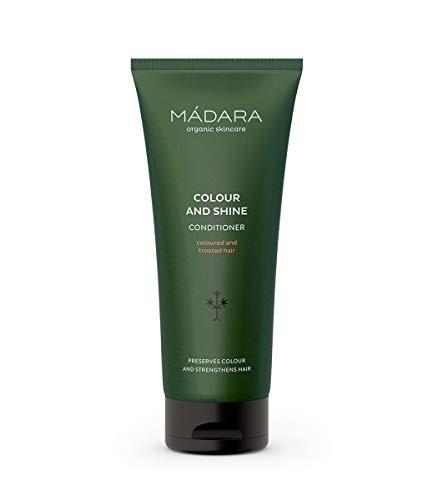 MÁDARA Organic Skincare | Farb- und Glanz-Conditioner - 200ml, Mit Nördlichen Leinsamen, Rosskastanie und Wegerich, Für gefärbtes und behandeltes Haar, Frizz-Glättung, Nährend, Vegan, Ecocert-zertifiziert, Recycelbare Verpackung.