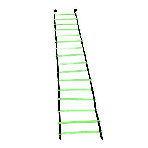 UUAPEERJ Beweglichkeitsleiter Sprossen Fußball Sport Geschwindigkeit Beweglichkeit Zugleiter Bewegungstraining Fitness Springleitern mit Stauraum-Grün