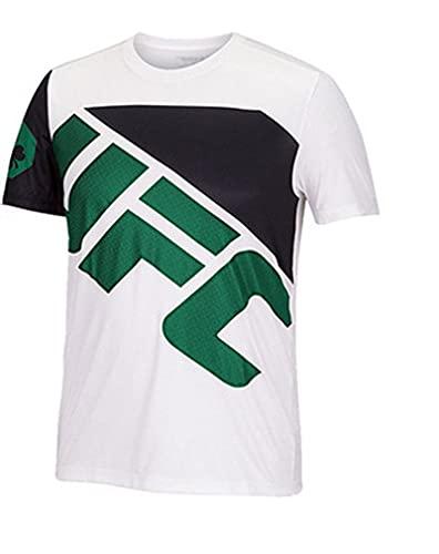 ZHSNG 2021 Sommer Herren T-Shirt Sanda Training Anzug Herren UFC Printed T-Shirt Mixed Martial Arts Boxing Anzug MMA White-XXL