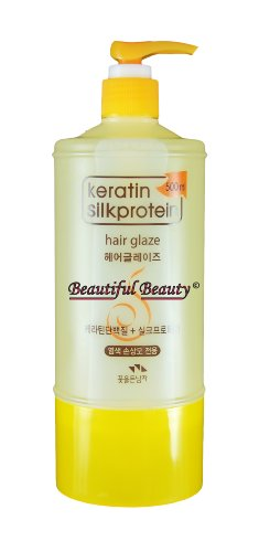 KERATIN SILKPROTEIN HAIR GLAZE VOLUME UP NATURAL STYLER 500ml FOR WAVE HAIR by Keratin