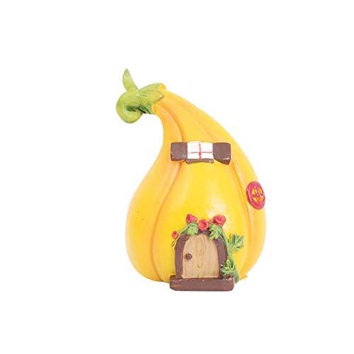 U/K Pulabo, miniatura paesaggistica da giardino, mini zucca stile Fairy House per giardino, acquari, rettile, scatola, decorazione per la casa, durevole e utile