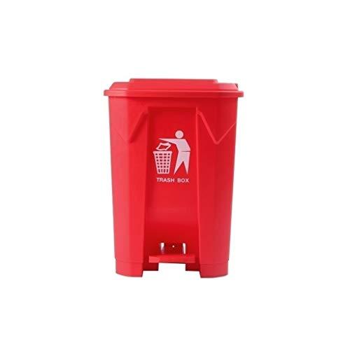 Cubos de basura Corredor Botes de basura, Escuela de Hostelería Oficina multifuncional de basura al aire libre Pedal Bin recipiente de residuos de plástico bote de basura Bajo techo, en exteri