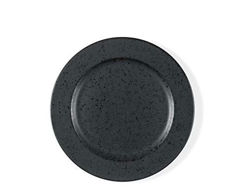 BITZ Teller/Kuchenteller/Dessertteller aus Steinzeug, 22 cm im Durchmesser, schwarz