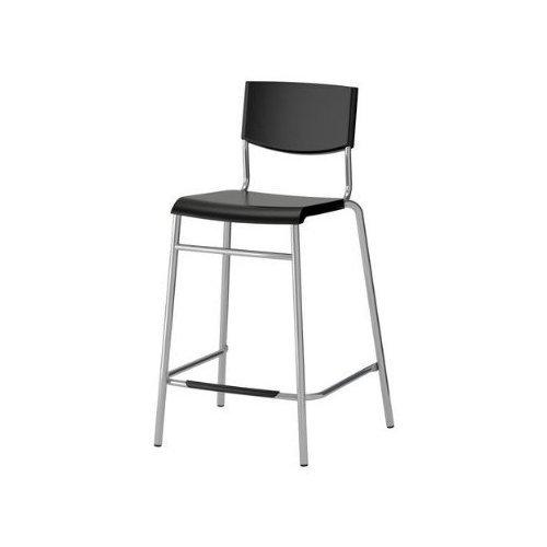 Ikea–Taburete de bar 'Stig' silla 63cm asiento altura de mostrador con reposapiés–Apilable
