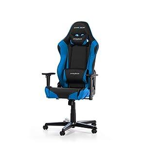 Dx Racer (el Original) Racing R0 Gaming Chair, Cuero sintético, Negro & Azul, Normal/Large