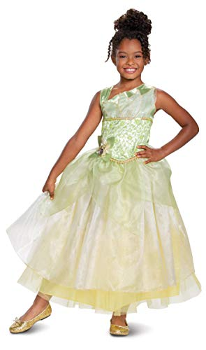 Disney Princess Tiana Deluxe Girls' Costume, Green