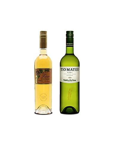 Vino Fino Tres Palmas de 50 cl y Vino Fino Tío Mateo de 75 cl - Mezclanza Exclusiva
