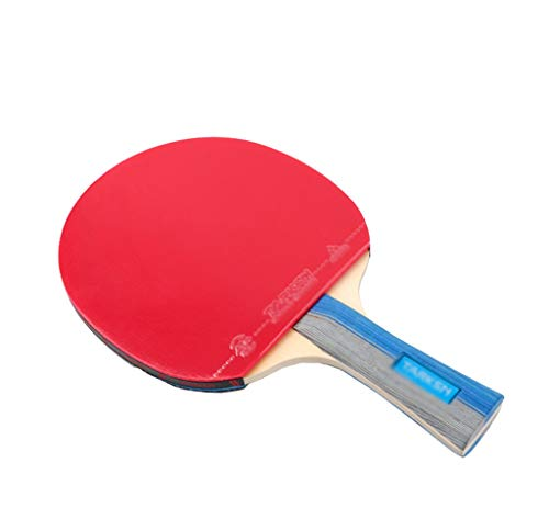 Best Buy! TTZ Ping Pong Paddle Set – Includes 2 Ping Pong Rackets and 3 Ping Pong Balls (Color : B...