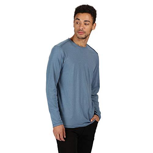 Regatta T- Shirt Manches Longues en Coton Organique écologique Karter II Polos/Vests Homme, Stellar, FR : M (Taille Fabricant : M)