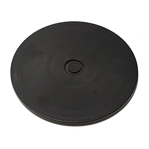 PrimeMatik - Base giratoria manual de 20,3 cm. Plataforma rotatoria de color negro