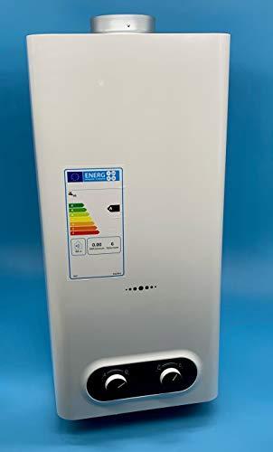 Durchlauferhitzer für Butan/Propan Gas, 11 Liter, offene Kammer (ATM), geringe NOX-Emissionen, automatische Einschaltung, Energieeffizienzklasse A