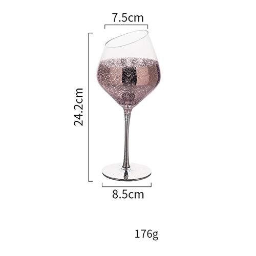 RONGXIANMA Copa de Vino 4 Piezas Cielo Estrellado Copa de Vino Copa Copa de champán Copas de Cristal para Beber en casa cóctel