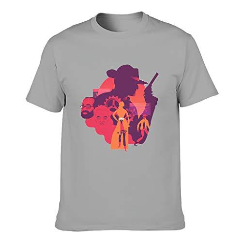 Waffenmann der westlichen Welt Humor Verschiedene Typen Kurzärmliges T-Shirt mit Arbeitskleidung für Unisex Westliche Welt Gray m