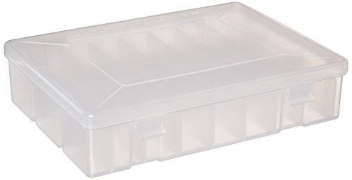 "Accusplit MMSTORAGE24P Pedometer Storage Case, Holds 24 Pedometers, 9-1/2"" Length x 7"" Width x 3-1/2"" Thickness, Clear"