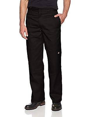 Dickies Men's Loose Fit Double Knee Twill Work Pant, Black, 38W x 32L