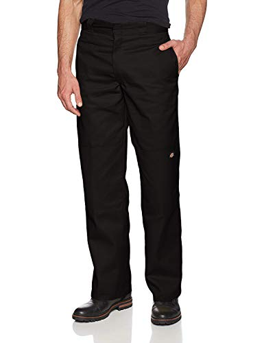 Dickies Men's Loose Fit Double Knee Twill Work Pant, Black, 34W x 32L