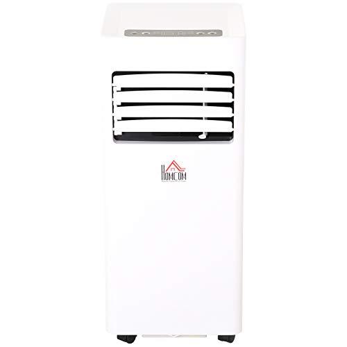 HOMCOM Mobile Air Conditioner White W/Remote Control Cooling Dehumidifying Ventilating - 5000BTU