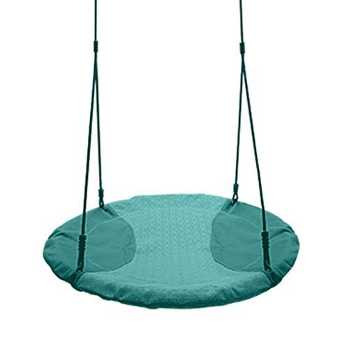 LUCKING Columpios Columpios para niños en Interiores/Exteriores Columpios de Tela para hamacas para Adultos Nido de pájaro Forma Redonda Columpios de Tela para Dos Personas Columpios para sillas d