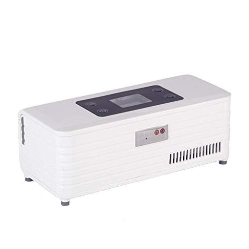 BD.Y Mini refrigerador portátil para medicamentos y Enfriador de insulina - Viaje, hogar, refrigerador portátil para automóvil/Caja de Viaje para medicamentos pequeños, Color Blanco