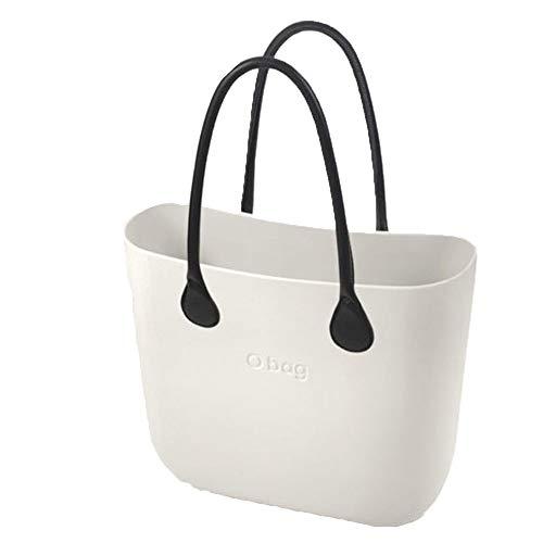 OBAG - Bolso de asas de Caucho para mujer Blanco Bianco 29x28x12cm