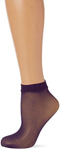 Dim Style Tobillero Fantasía Rejilla Calcetines, Azul (Violet Nocturne 80J), One Size (Tamaño del fabricante:35/41) para Mujer