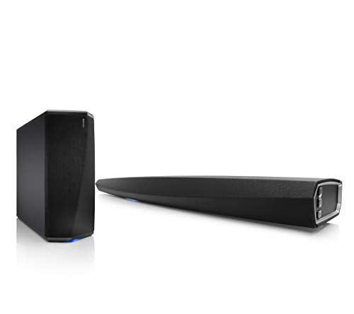 Denon DHT-S716H Premium Soundbar mit HEOS (Dolby True HD, DTS-HD Master, HDMI, 4k Ultra-HD, HDCP 2.2, HDR, Dolby Vision, ARC, Bluetooth) + Wireless Subwoofer (WLAN, Class-D-Verstärkung, App-Steuerung)