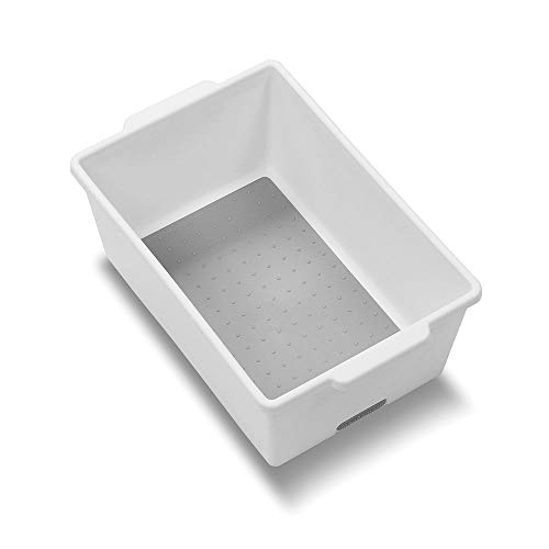 madesmart Classic Small Deep Bin - White  CLASSIC COLLECTION  Heavy-duty  Non-slip Lining and Rubber Feet  BPA-Free