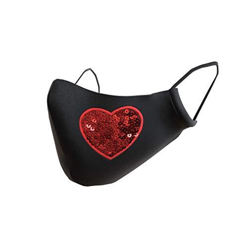 Viannchi mascarillas reutilizables mascarillas de tela 100% algodón higiénicas mascarilla corazon negra ajuste nasal protector orejas de regalo hecha en España