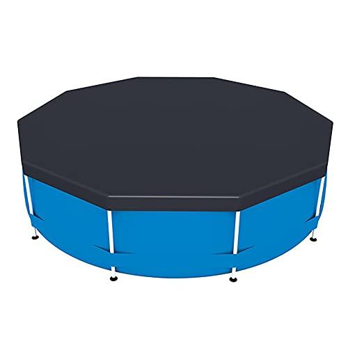 KAKAF Cubierta de piscina para piscina con marco redondo resistente al polvo, resistente al agua, plegable, lona de polietileno para piscinas al aire libre, playa, verano, fiesta, piscina (366