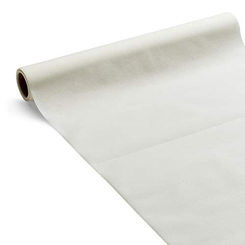 Le Nappage - Chemin de Table 3 en 1 Airlaid Blanc - Biodégradable et Recyclable - Certifié FSC - Chemin de Table en Papier Blanc Format 0,40 x 4,80 Mètres