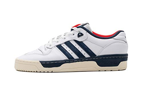 adidas Rivalry Low Premium, Zapatillas Deportivas Hombre, FTWR White Cream White Crew Navy, 47 1/3 EU