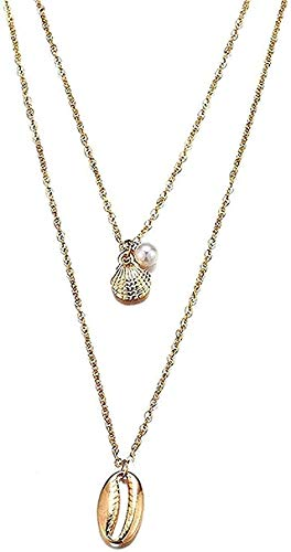 LBBYMX Co.,ltd Necklace Fashion Bohemian Long Pearl Necklace for Women Y Sliver Layered Necklaces & Pendants B Pearl Jewelry Gifts
