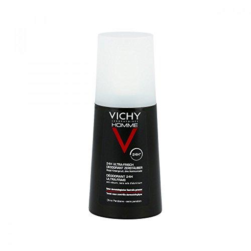 VICHY Homme 24h Ultra-Frisch Deodorant Zerstäuber, 100 ml Lösung