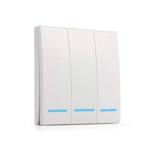 OWSOO 433MHZ Interruptor de Control Remoto de Radiofrecuencia RF Interruptor Inteligente Interruptores de Panel de Pared