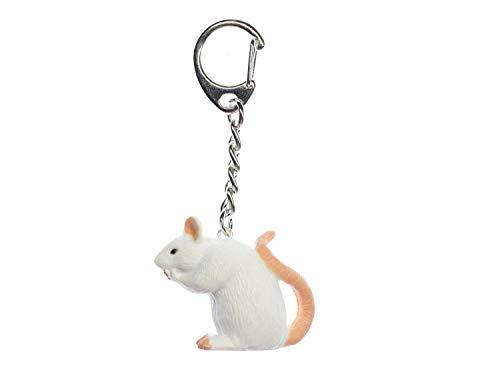 Miniblings Ratte Maus Schlüsselanhänger - Handmade Modeschmuck I Anhänger Schlüsselring Schlüsselband Keyring - Ratte Maus